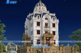 Kiến trúc lâu đài Pháp 4 tầng đẹp
